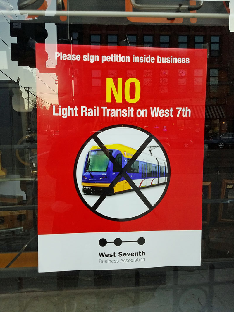 No Light Rail line on west 7th