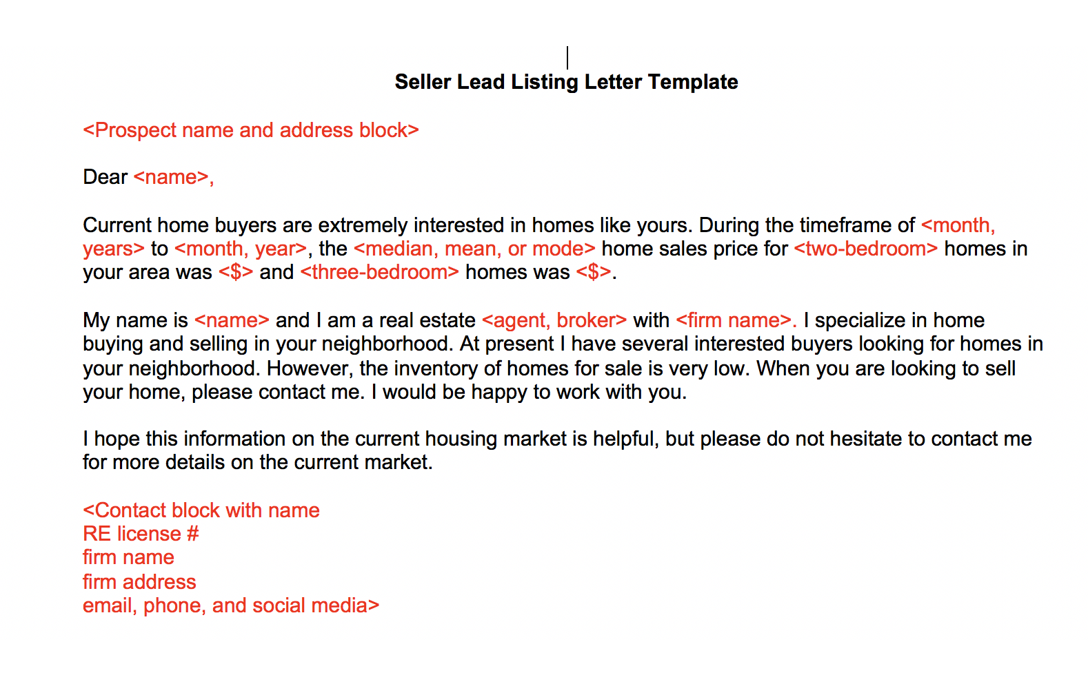 Letters From Real Estate Agents St Paul Real Estate Blog