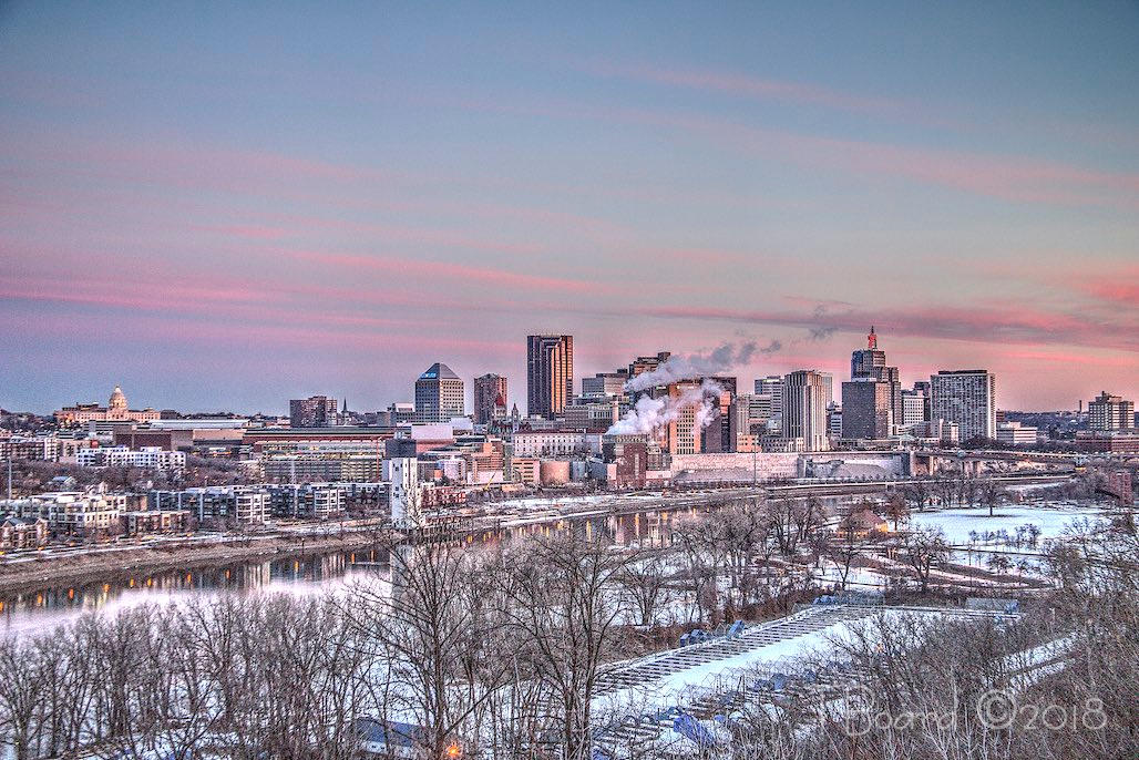 sunrise downtown St Paul