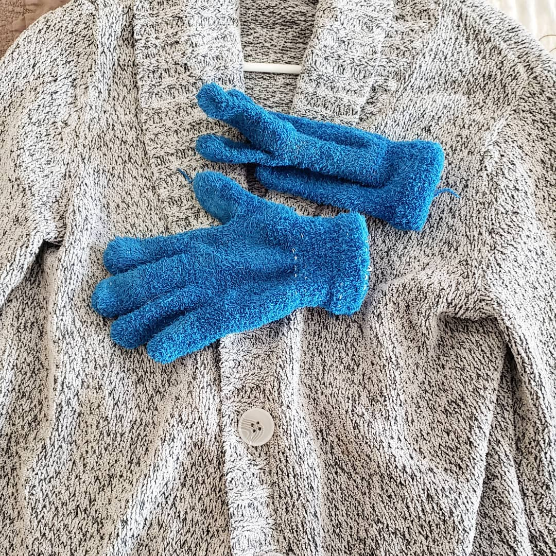 gloves and sweater